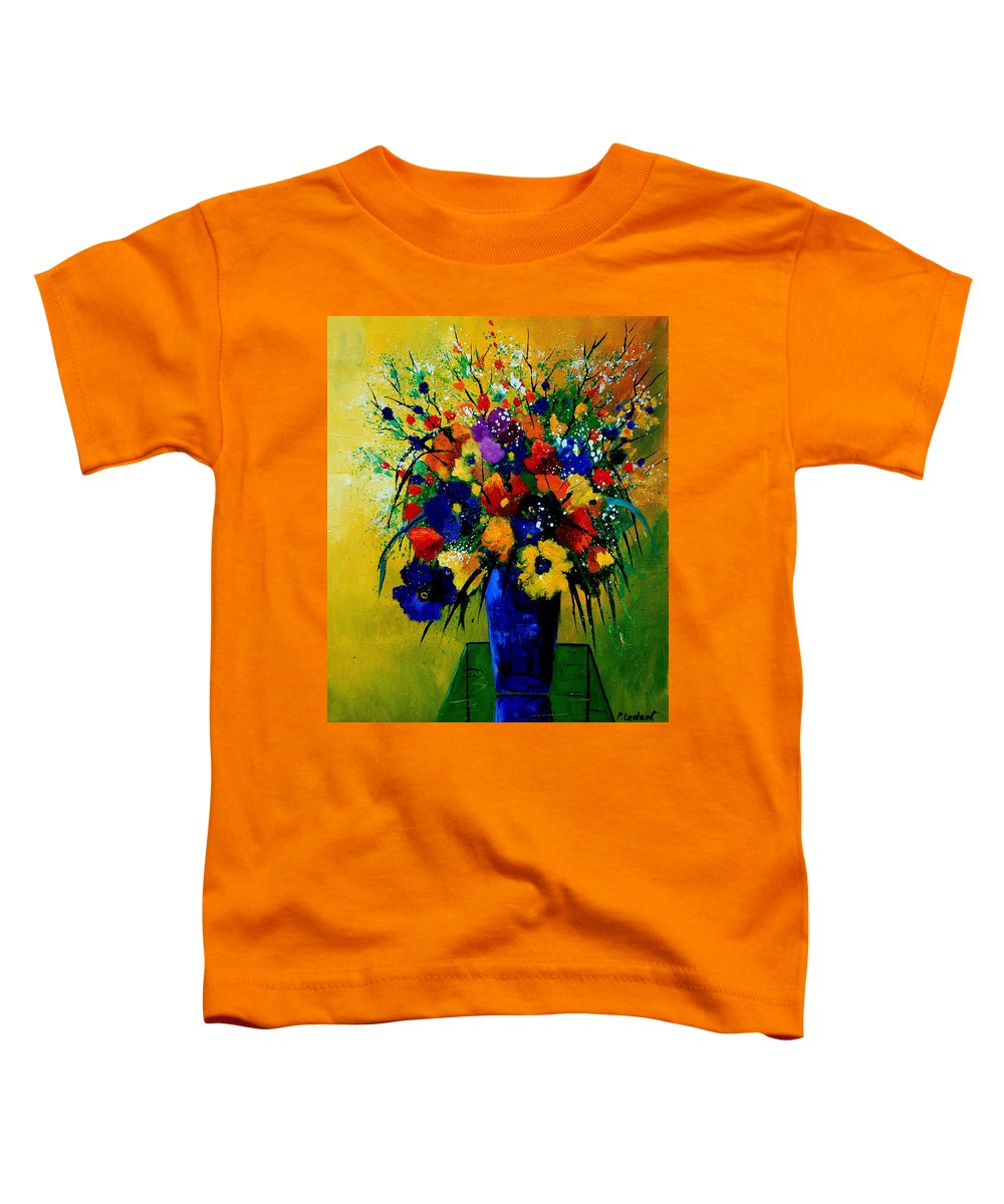 Poppies Toddler T-Shirt featuring the painting Bunch 0508 by Pol Ledent
