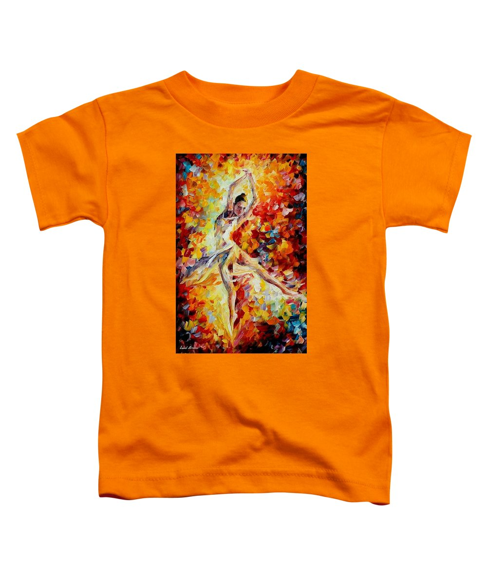 Danse Toddler T-Shirt featuring the painting Candle Fire by Leonid Afremov