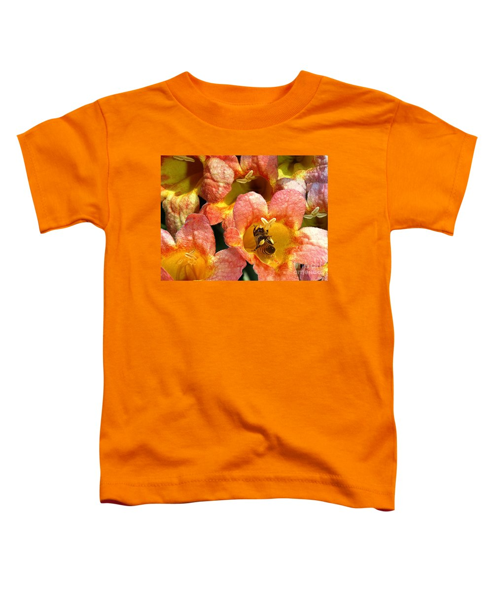 Nature Toddler T-Shirt featuring the photograph Caught Up In The Work by Lucyna A M Green