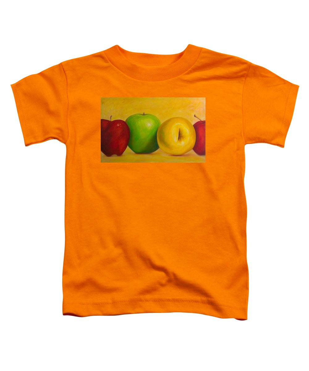 Still Life Toddler T-Shirt featuring the painting Chorus Line by Shannon Grissom