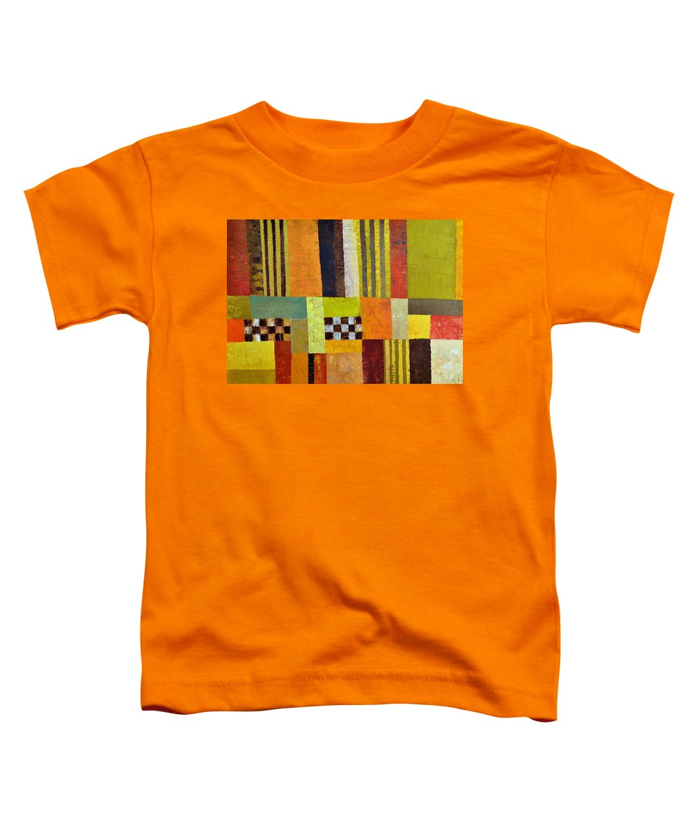Colorful Toddler T-Shirt featuring the painting Color And Pattern Abstract by Michelle Calkins