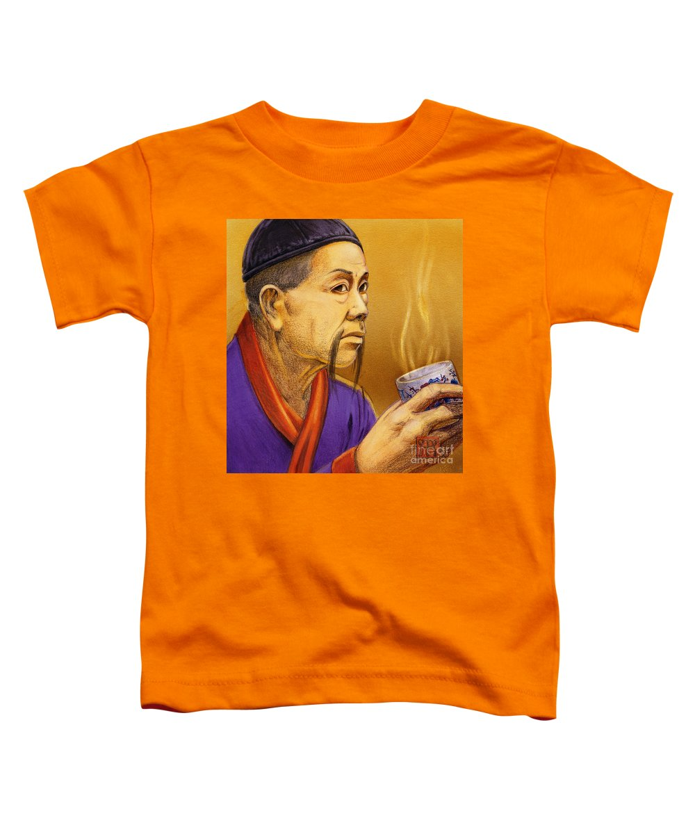 Oriental Toddler T-Shirt featuring the painting Confucian Sage by Melissa A Benson