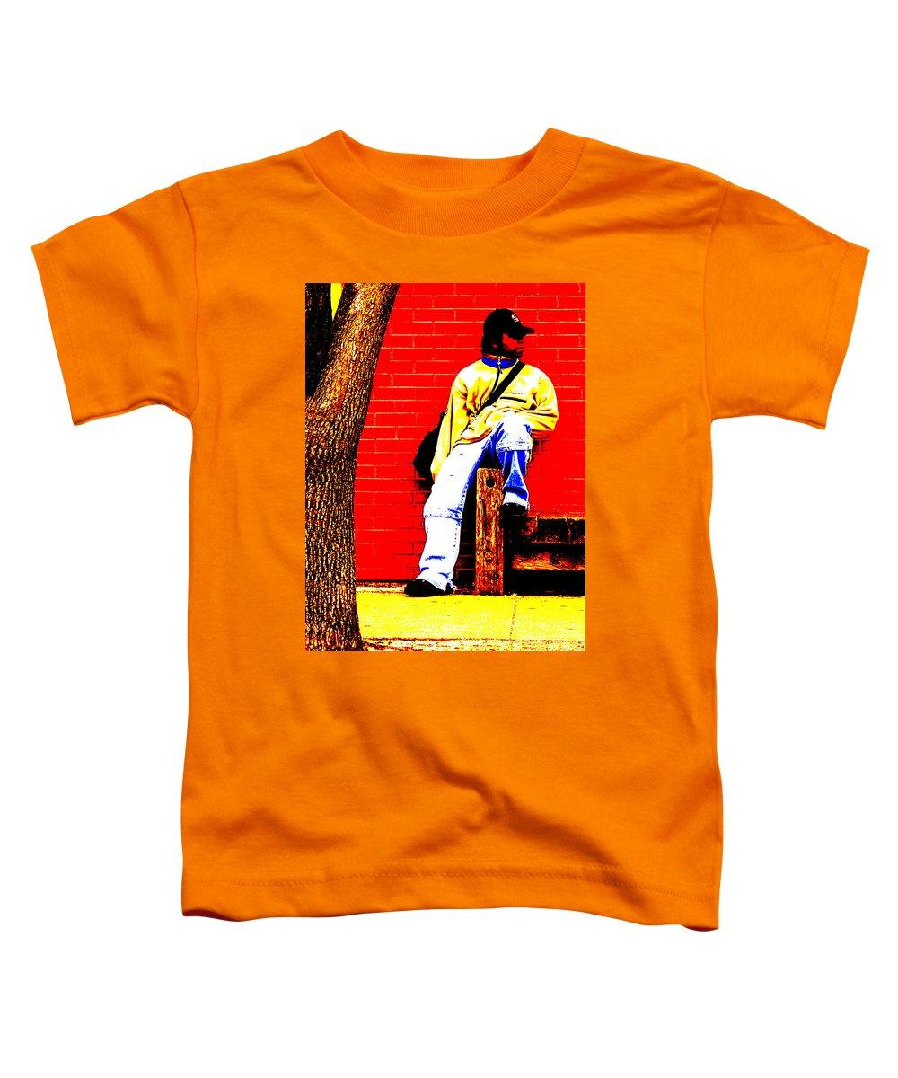 Canvas Toddler T-Shirt featuring the photograph Cross Town Run by Albert Stewart