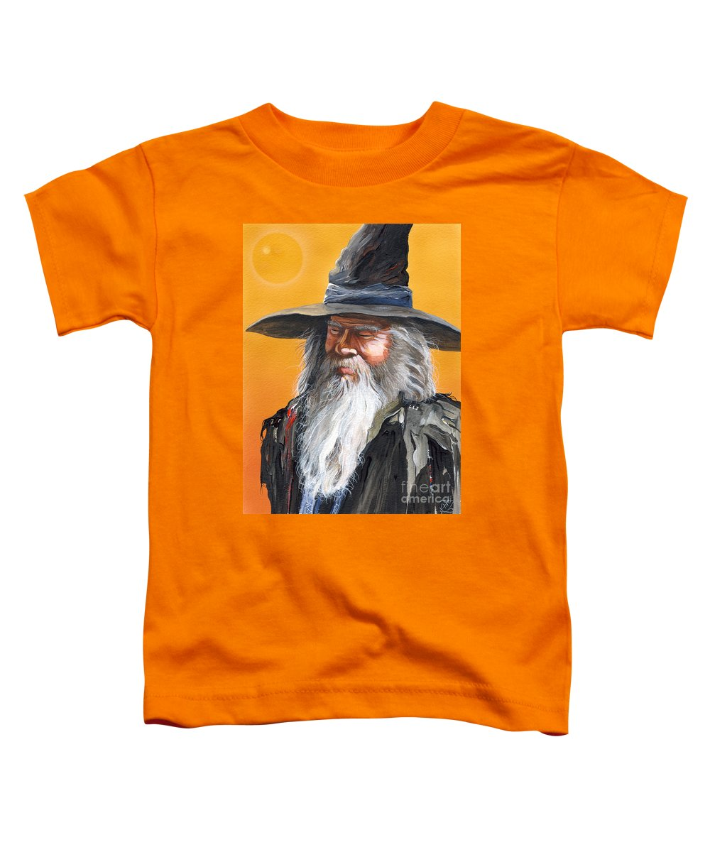 Fantasy Art Toddler T-Shirt featuring the painting Daydream Wizard by J W Baker