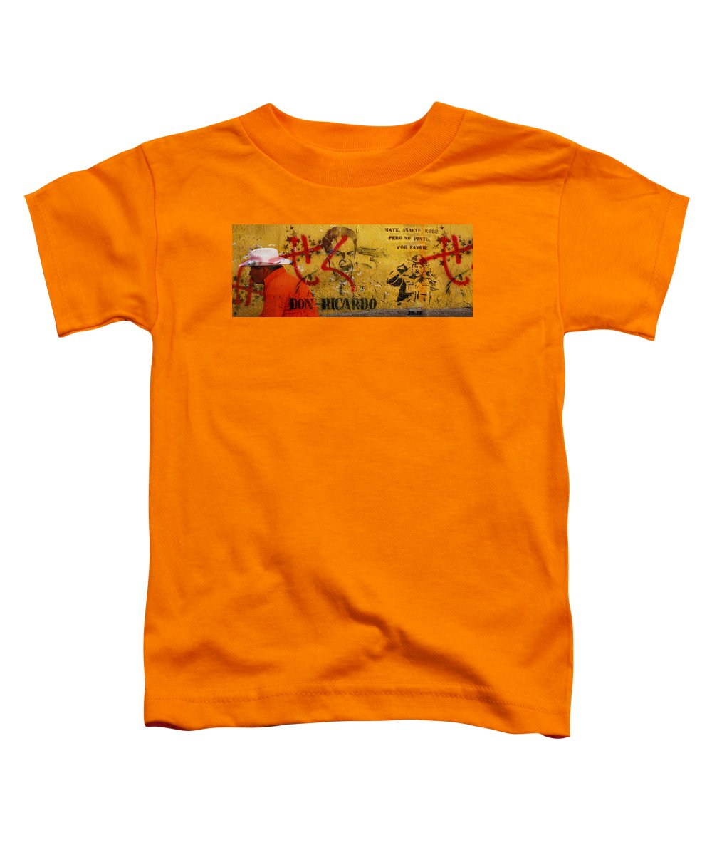 Grafitti Toddler T-Shirt featuring the photograph Don-ricardo by Skip Hunt