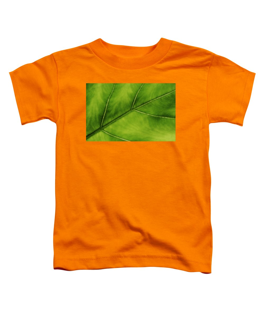 Leaf Toddler T-Shirt featuring the photograph Elephant Ear by Marilyn Hunt