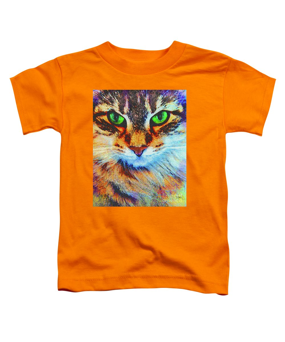 Emerald Gaze Toddler T-Shirt featuring the digital art Emerald Gaze by John Beck