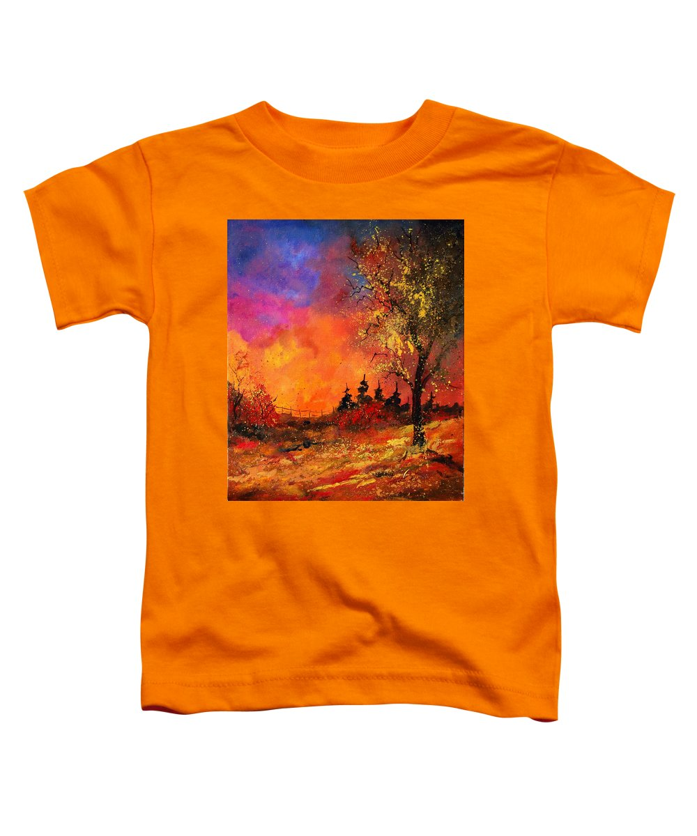 River Toddler T-Shirt featuring the painting Fall by Pol Ledent