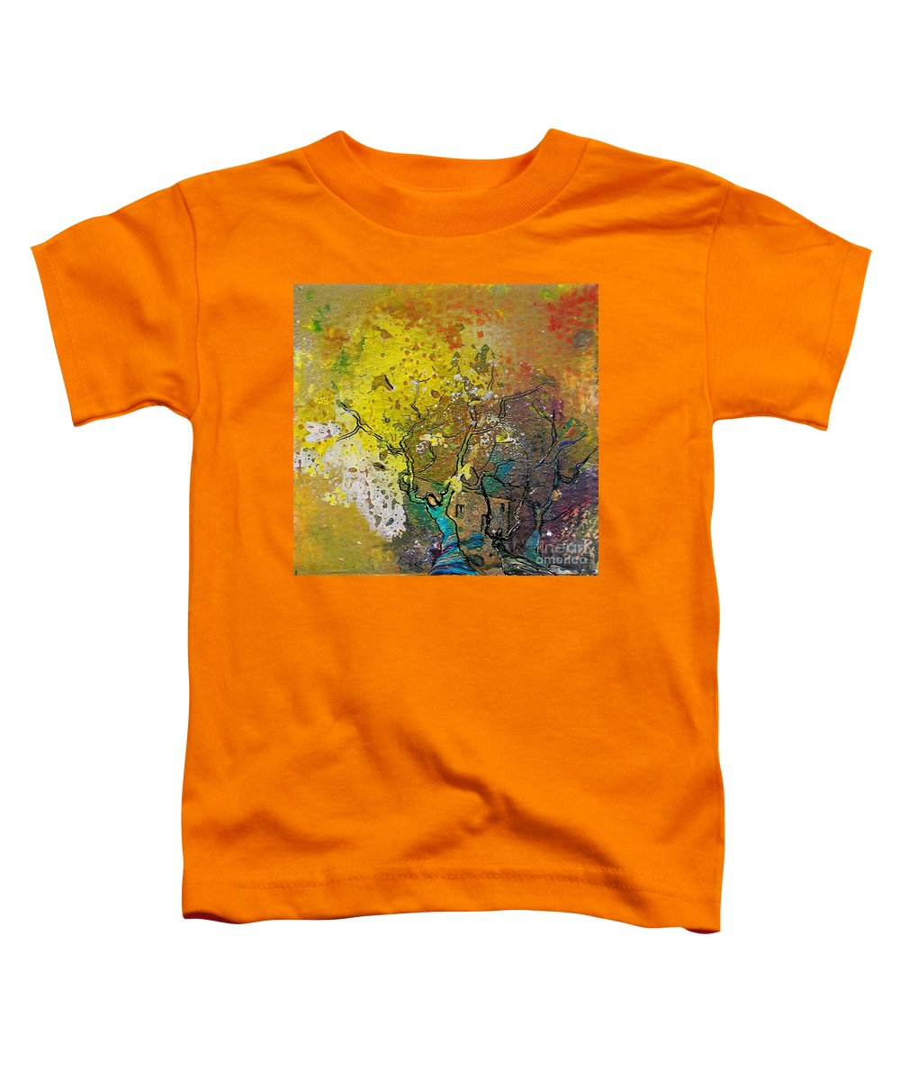 Miki Toddler T-Shirt featuring the painting Fantaspray 13 1 by Miki De Goodaboom