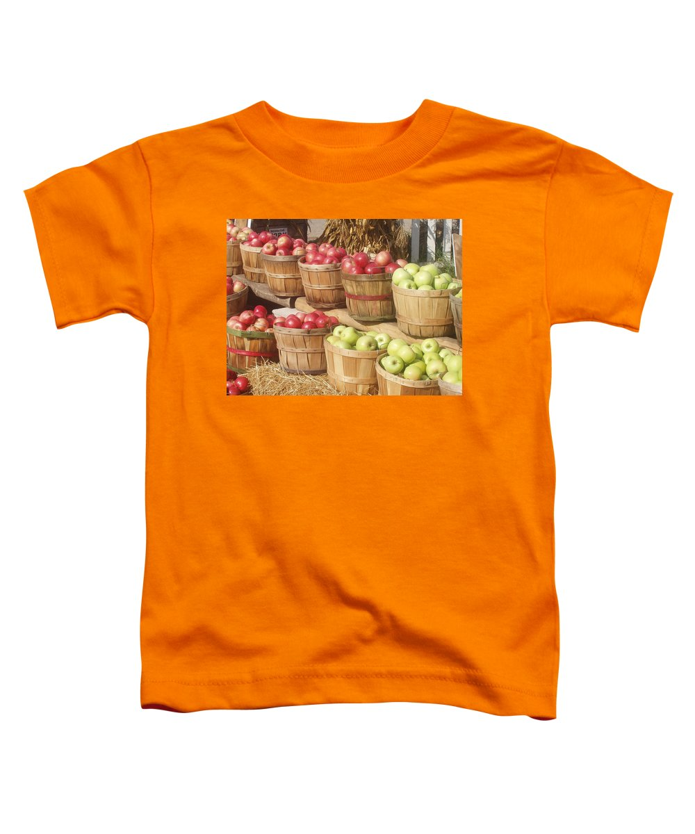 Farmers Market Toddler T-Shirt featuring the photograph Farmer's Market Apples by Wayne Potrafka