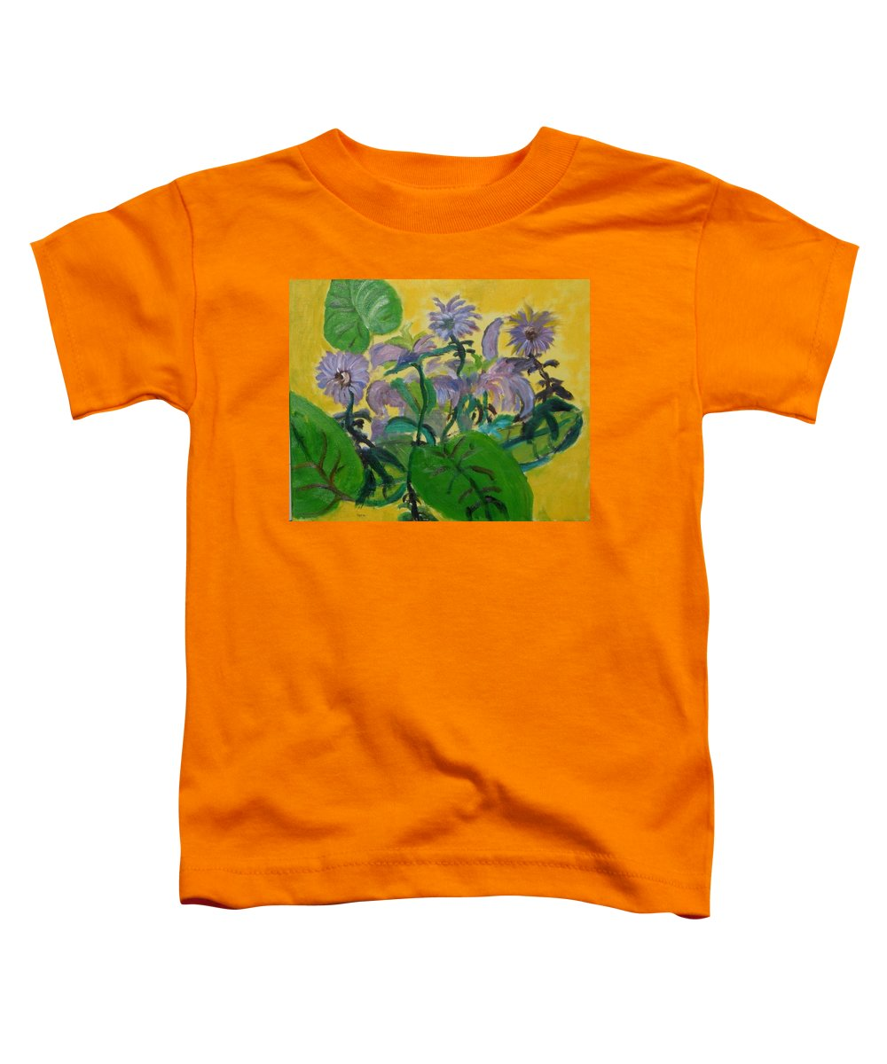Toddler T-Shirt featuring the painting Flower garden by Jason Rosenstock