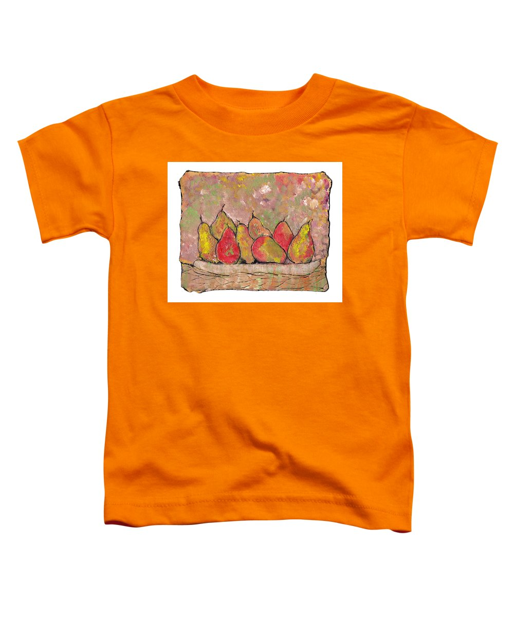 Pears Toddler T-Shirt featuring the painting Four Pair Of Pears by Wayne Potrafka