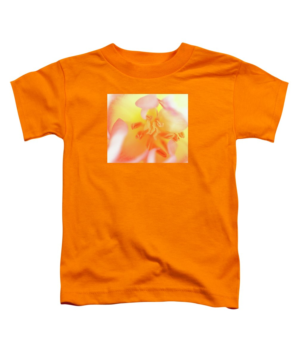 Internal Beauty Of A Tulip Toddler T-Shirt featuring the photograph From The Heart by Bill Morgenstern