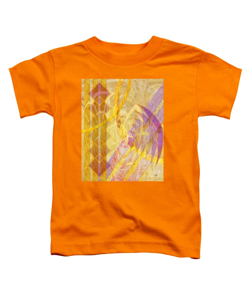 Gold Fusion Toddler T-Shirt featuring the digital art Gold Fusion by John Beck
