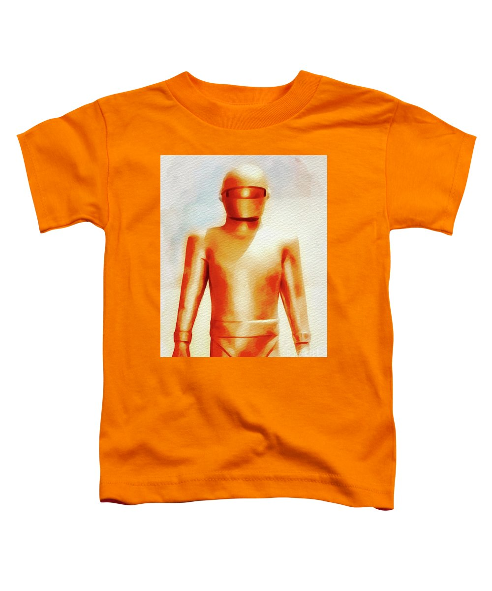 Gort Toddler T-Shirt featuring the painting Gort From The Day The Earth Stood Still by John Springfield