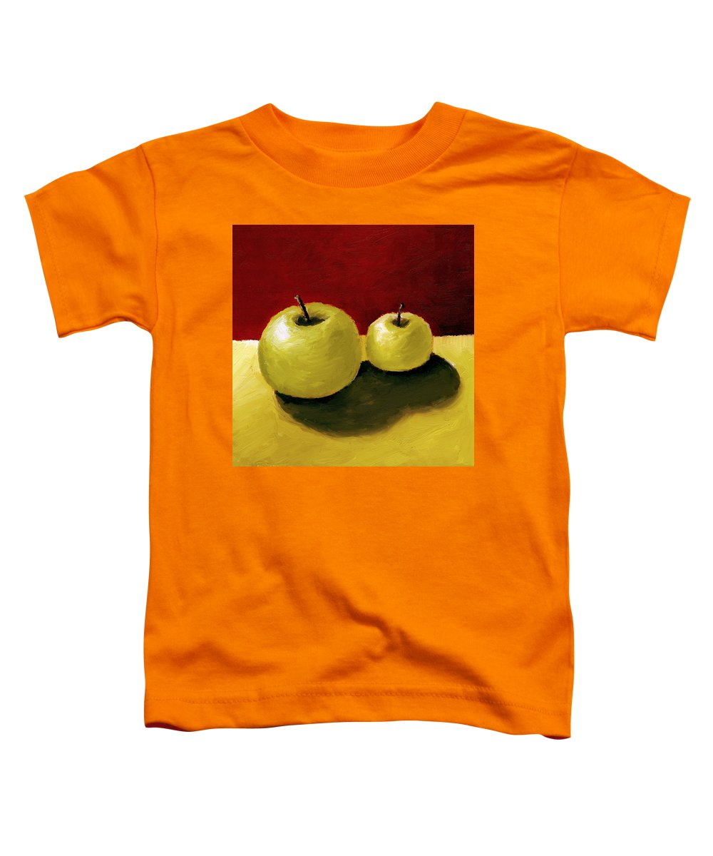 Apple Toddler T-Shirt featuring the painting Granny Smith Apples by Michelle Calkins
