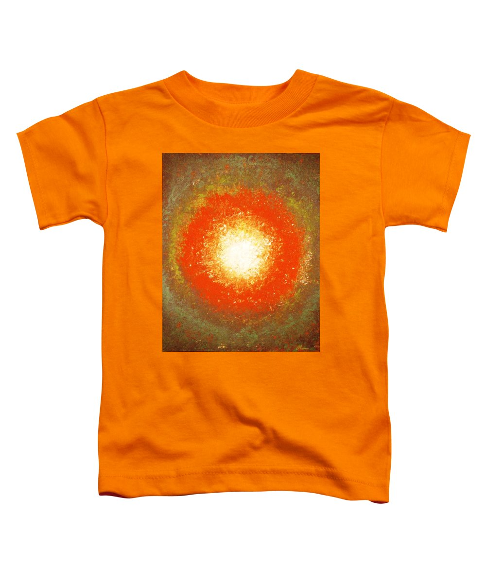 Original Toddler T-Shirt featuring the painting Inception by Todd Hoover