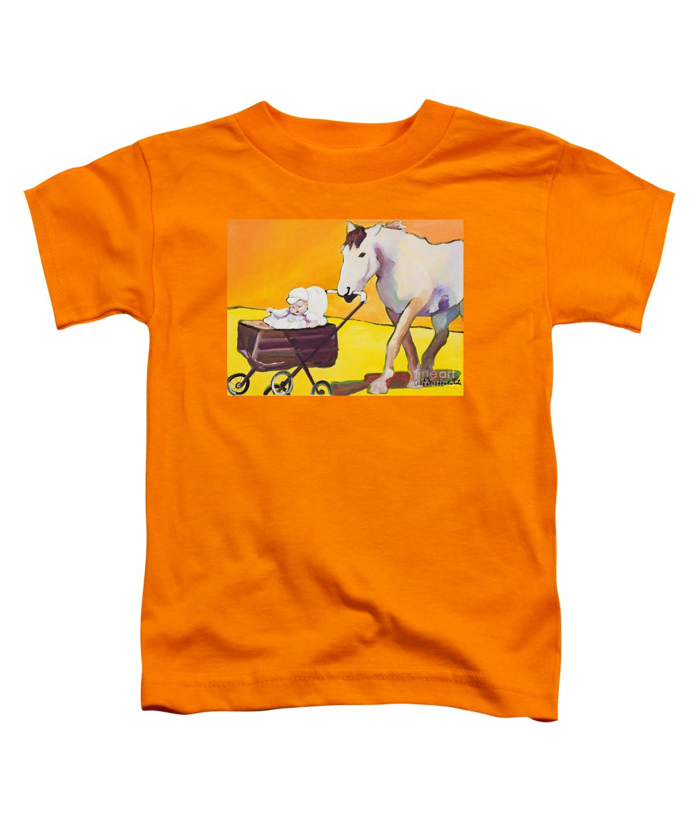 Animal Toddler T-Shirt featuring the painting Jake by Pat Saunders-White