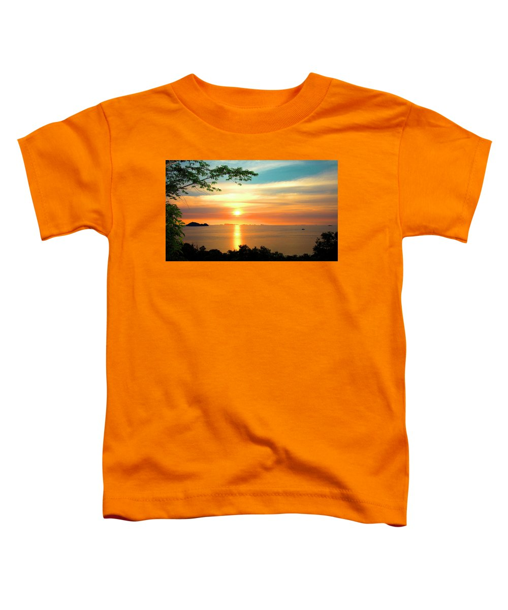 Phuket Toddler T-Shirt featuring the digital art Koh Phangan by Mark Ashkenazi