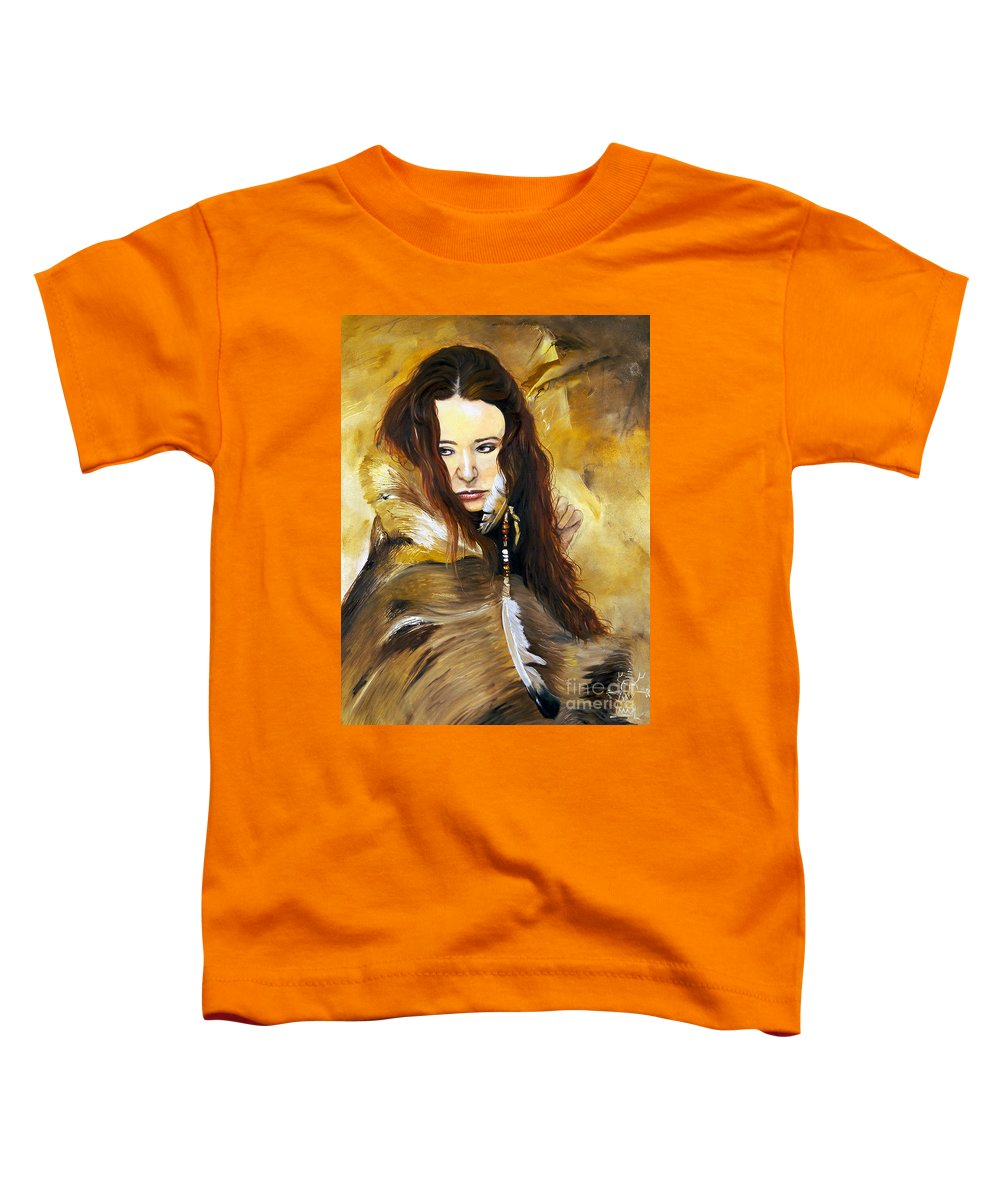 Southwest Art Toddler T-Shirt featuring the painting Lament by J W Baker