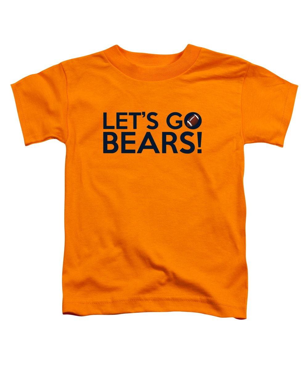 Chicago Bears Toddler T-Shirt featuring the painting Let's Go Bears by Florian Rodarte
