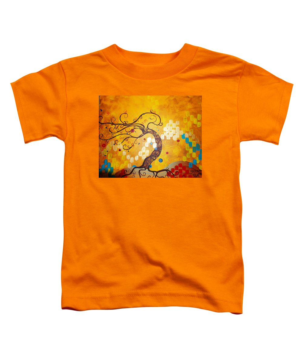 Toddler T-Shirt featuring the painting Life Is A Ball by Stefan Duncan