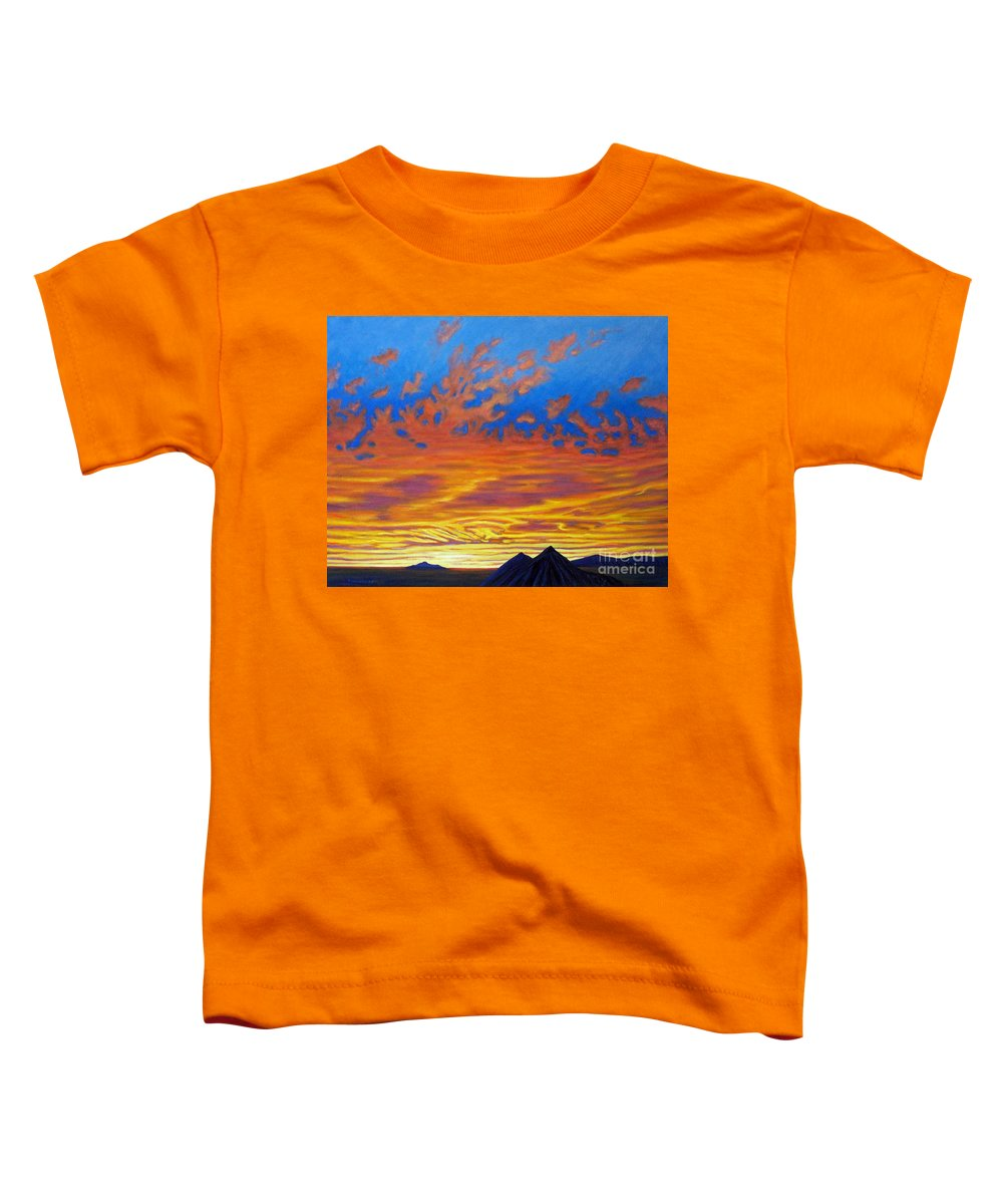 Landscape Toddler T-Shirt featuring the painting Looking To The Southwest by Brian Commerford