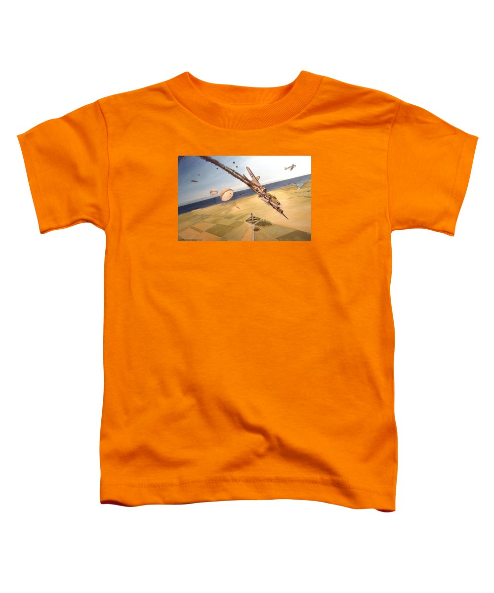 Aviation Toddler T-Shirt featuring the painting Mehitabel by Marc Stewart