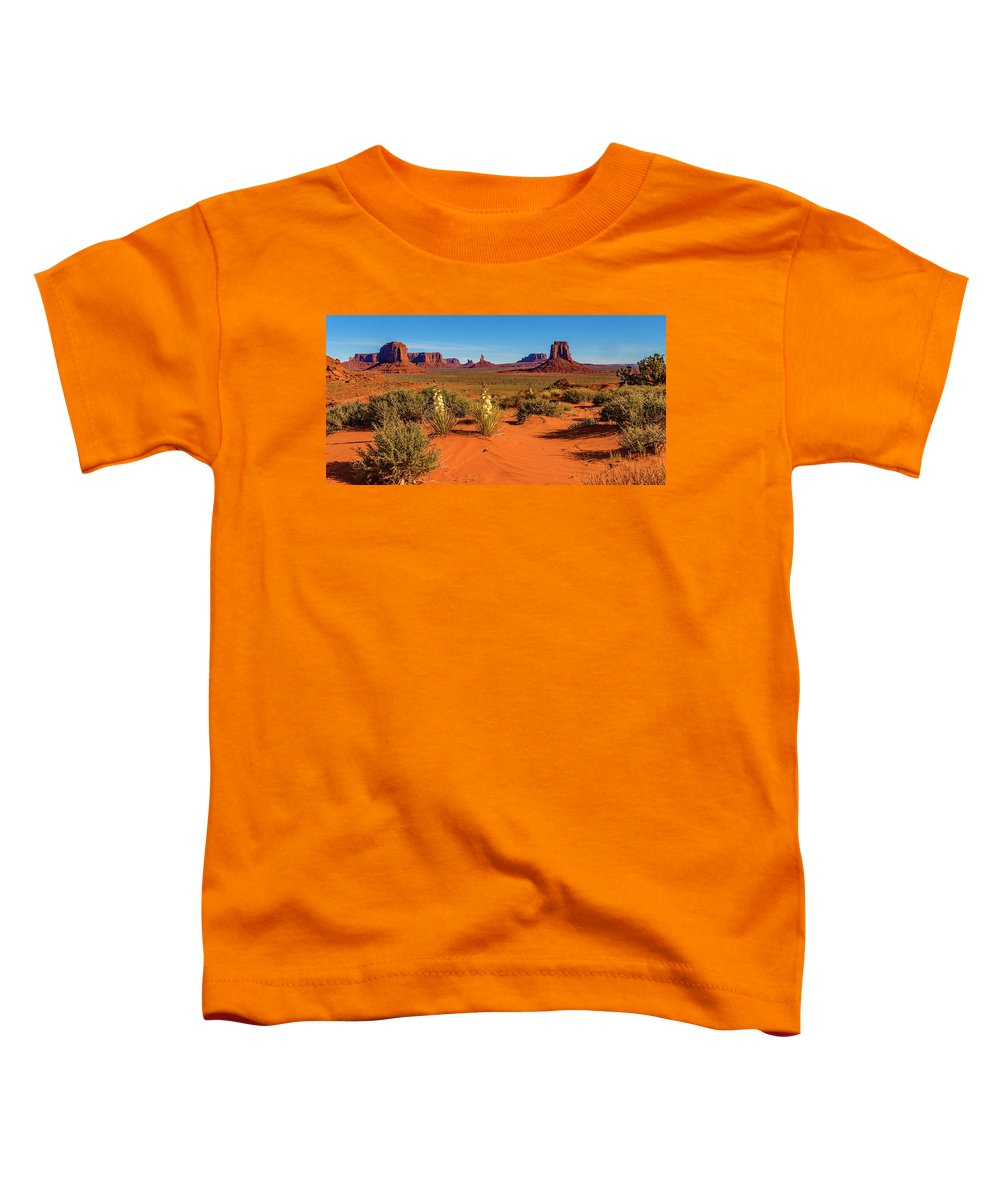 Monument Valley Toddler T-Shirt featuring the photograph Monument Valley by Norman Hall
