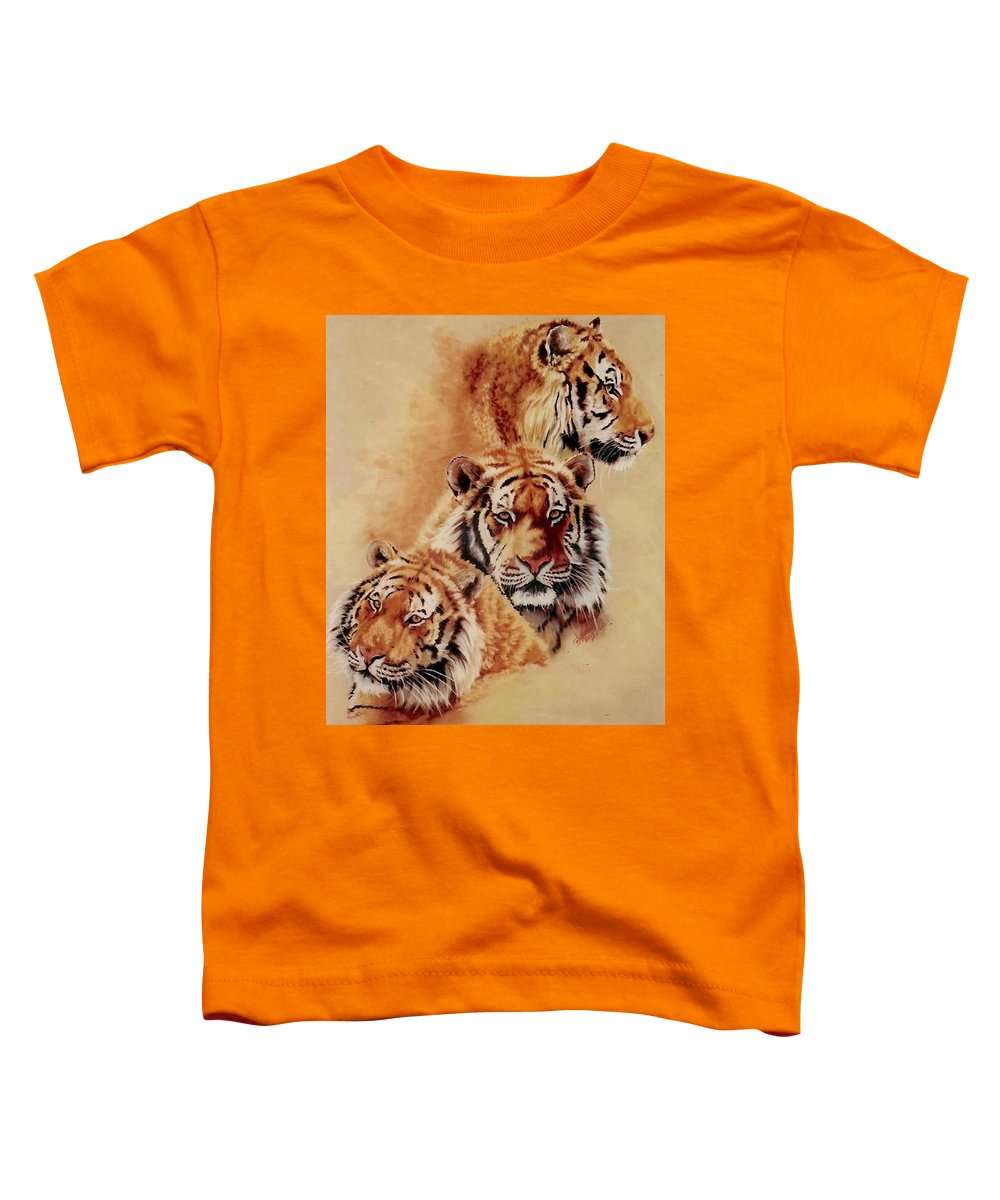 Tiger Toddler T-Shirt featuring the pastel Nanook by Barbara Keith
