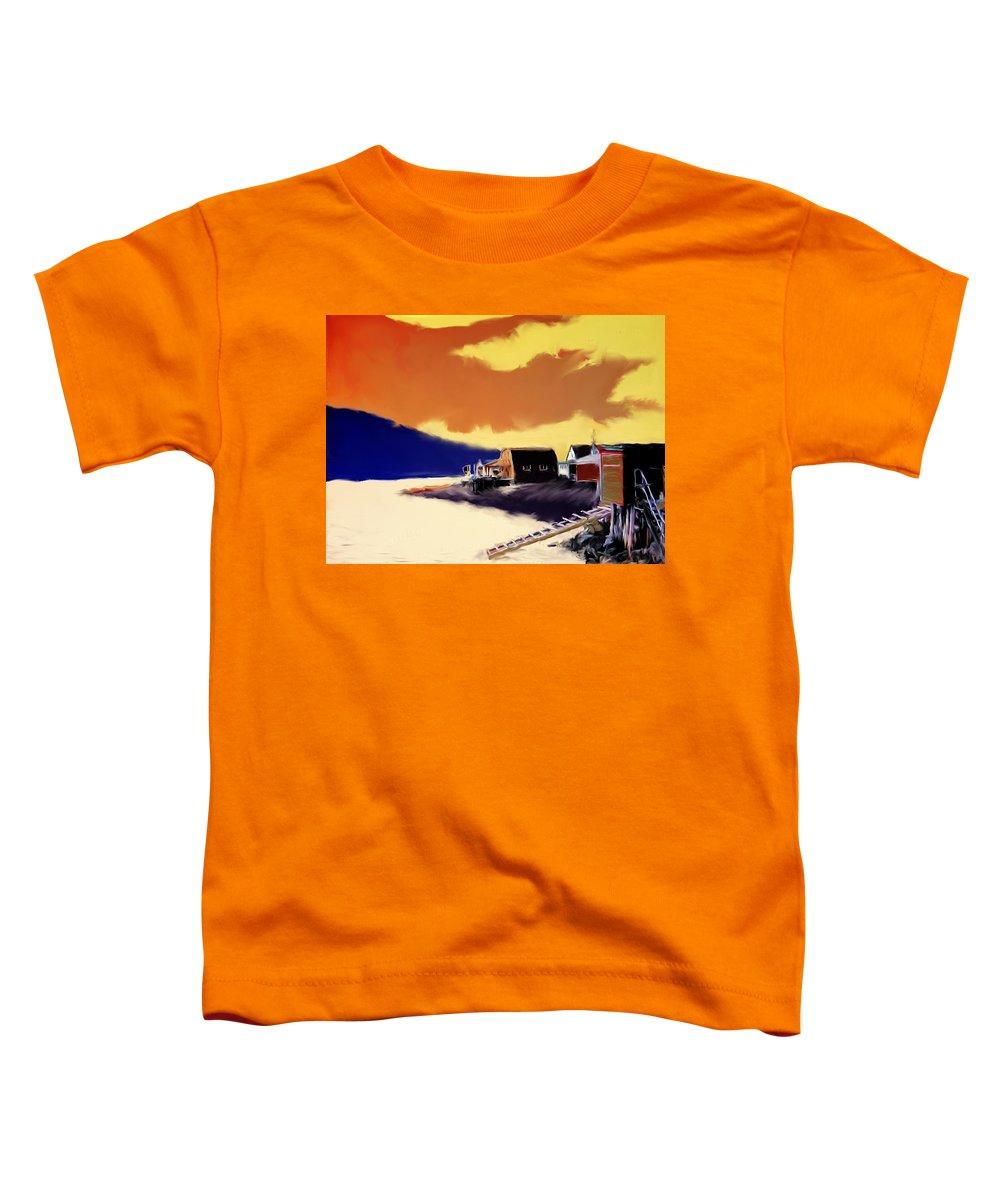 Newfoundland Toddler T-Shirt featuring the photograph Newfoundland Fishing Shacks by Ian MacDonald