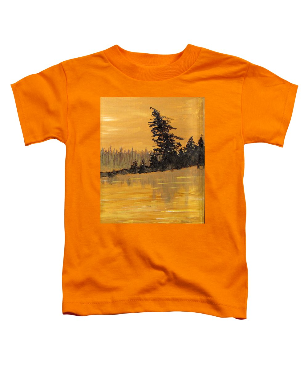 Northern Ontario Toddler T-Shirt featuring the painting Northern Ontario Three by Ian MacDonald