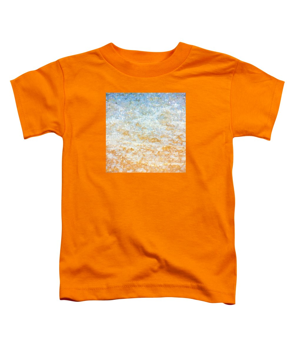 Shore Toddler T-Shirt featuring the mixed media Ocean Abstract by Pati Photography