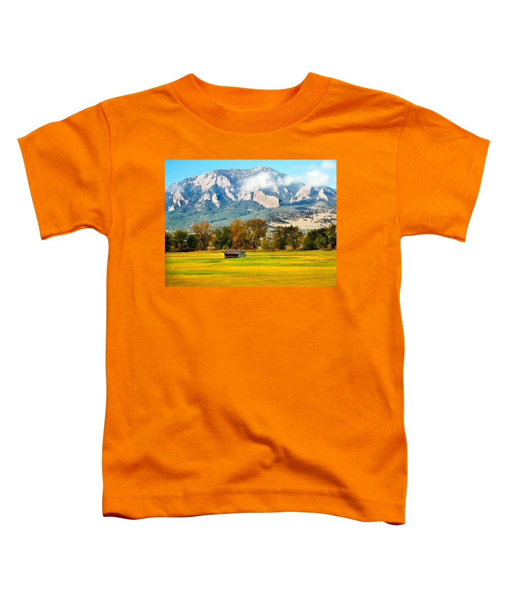 Rural Toddler T-Shirt featuring the photograph Old Shed by Marilyn Hunt
