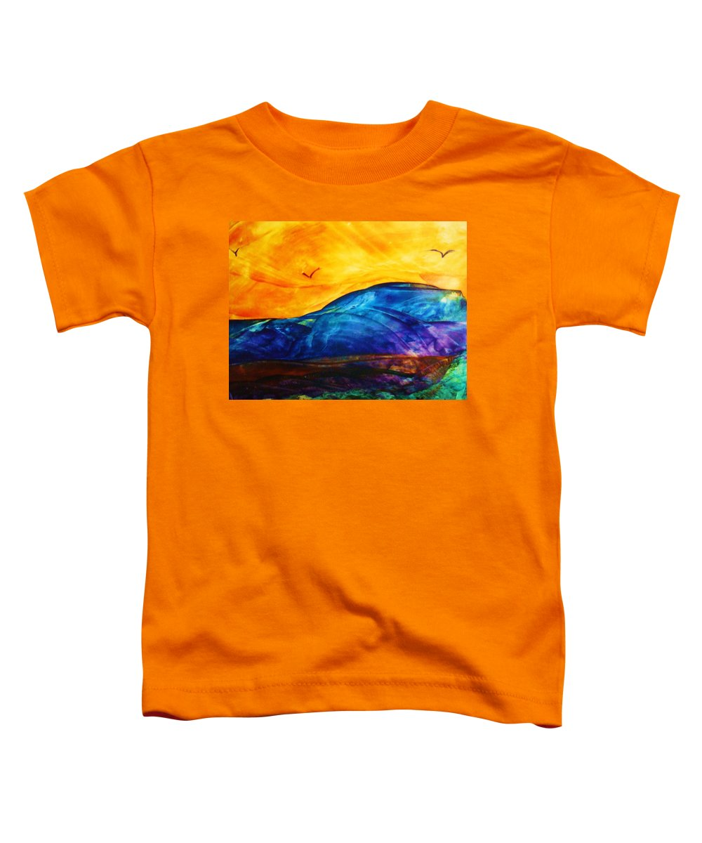 Landscape Toddler T-Shirt featuring the painting One Fine Day by Melinda Etzold