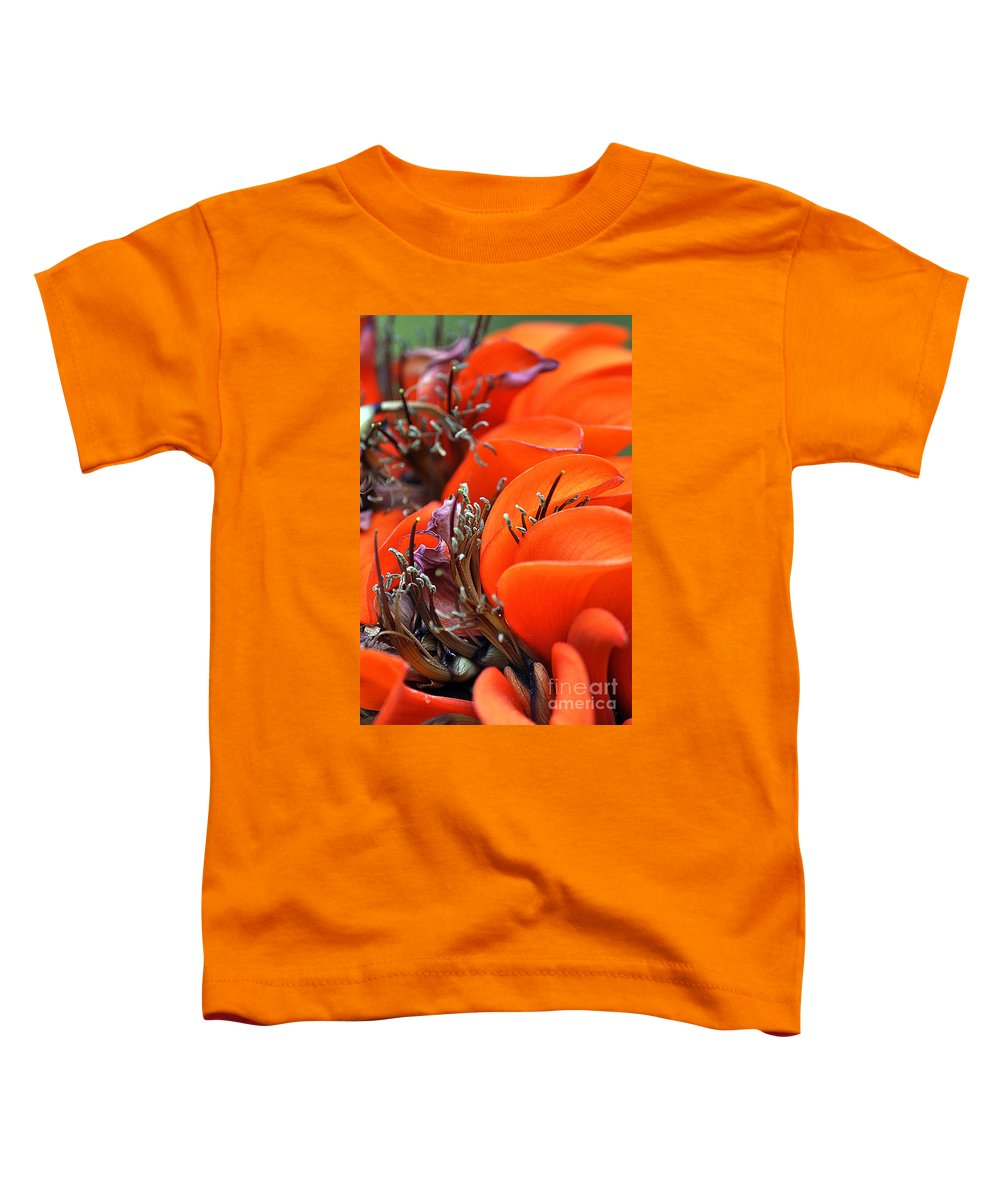 Clay Toddler T-Shirt featuring the photograph Orange by Clayton Bruster
