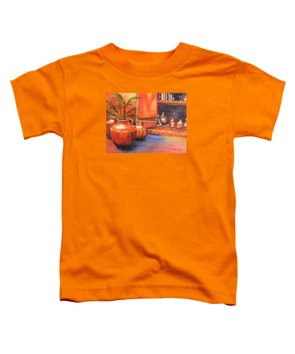 Pottery Toddler T-Shirt featuring the painting Orange Scarf by Karen Stark