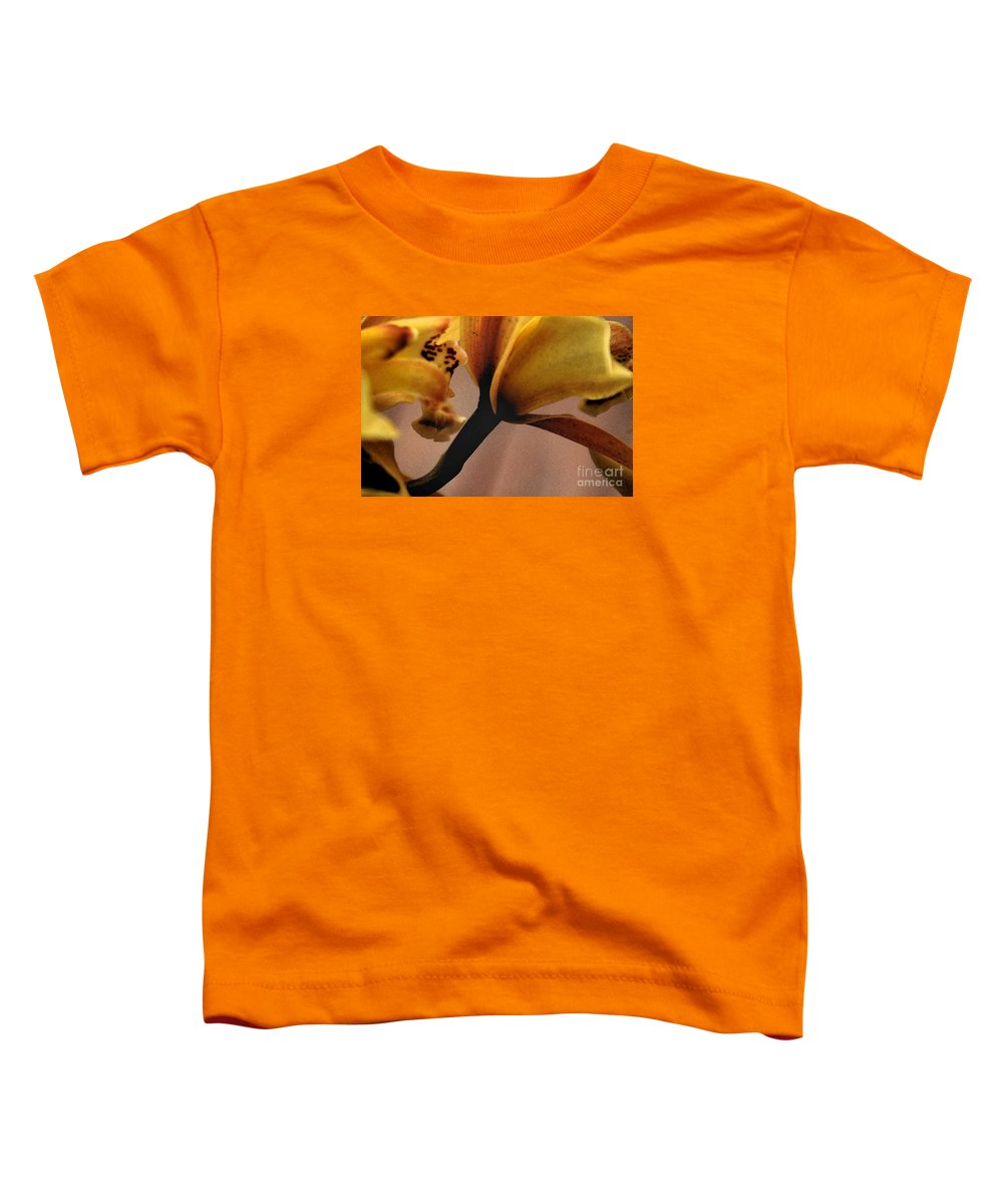 Orchid Toddler T-Shirt featuring the photograph Orchid Yellow by Michael Ziegler