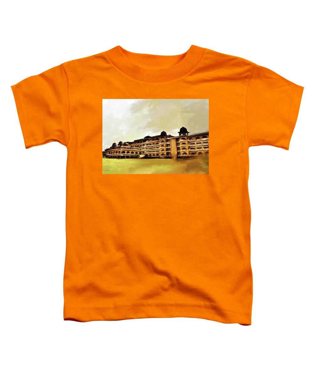 University Toddler T-Shirt featuring the painting Painting 797 1 Peshawar University by Mawra Tahreem