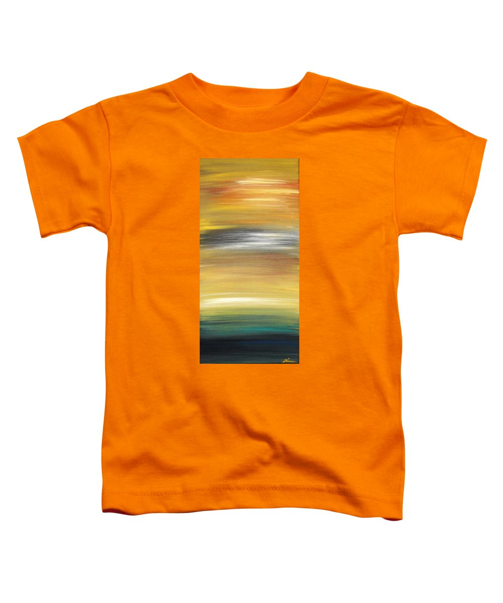 Waves Toddler T-Shirt featuring the painting Pond by Todd Hoover