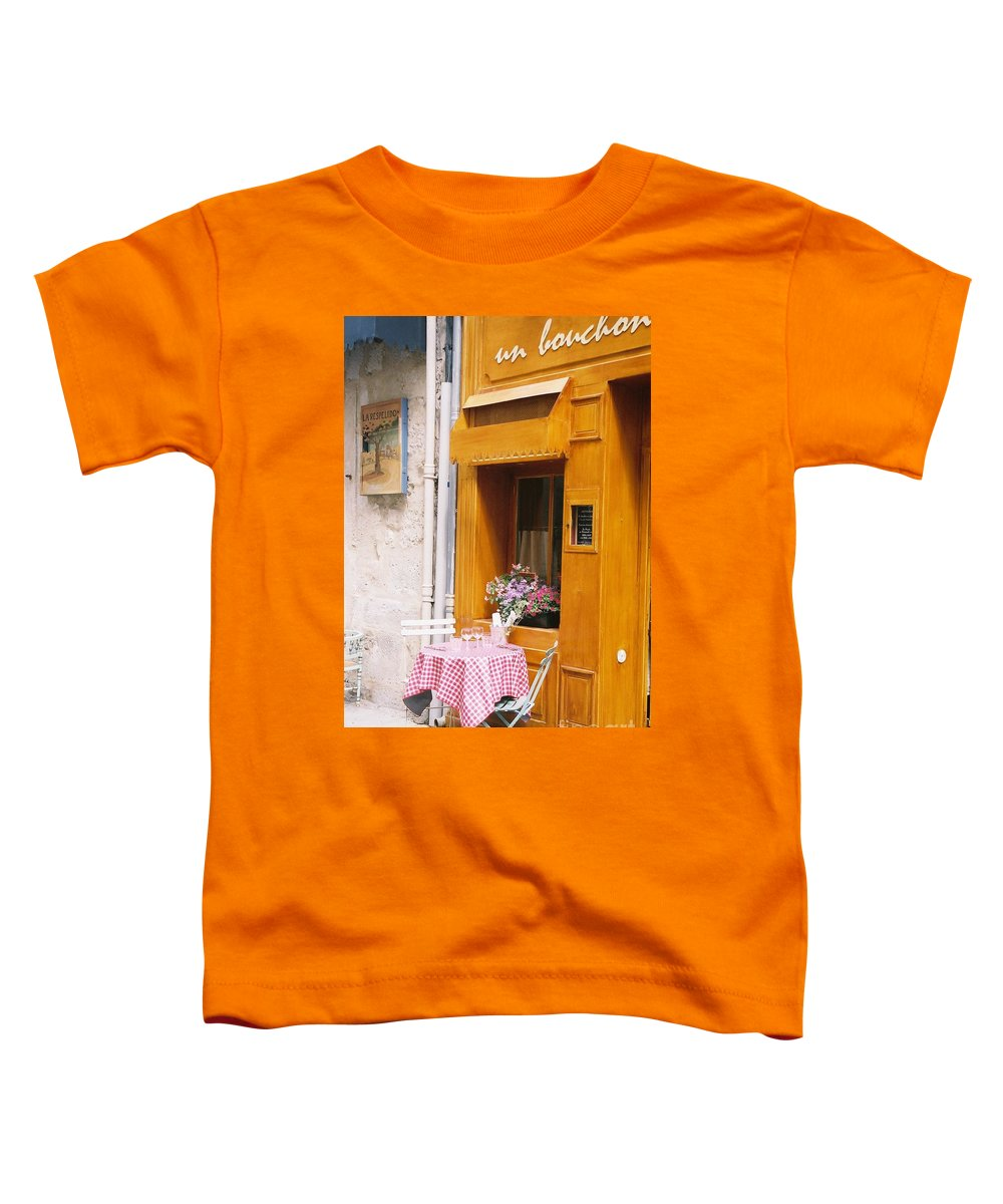 Cafe Toddler T-Shirt featuring the photograph Provence Cafe by Nadine Rippelmeyer