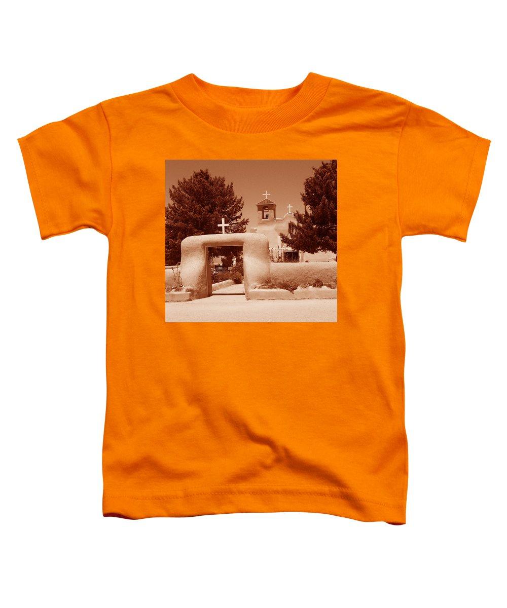 Church Toddler T-Shirt featuring the photograph Ranchos De Taos Church  New Mexico by Wayne Potrafka