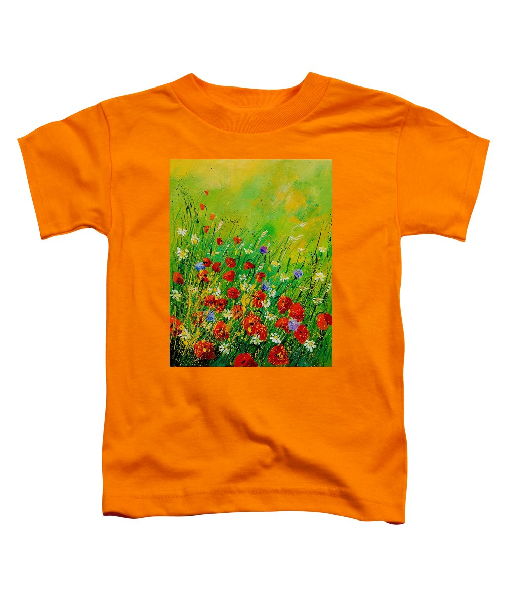 Flowers Toddler T-Shirt featuring the painting Red Poppies 450708 by Pol Ledent