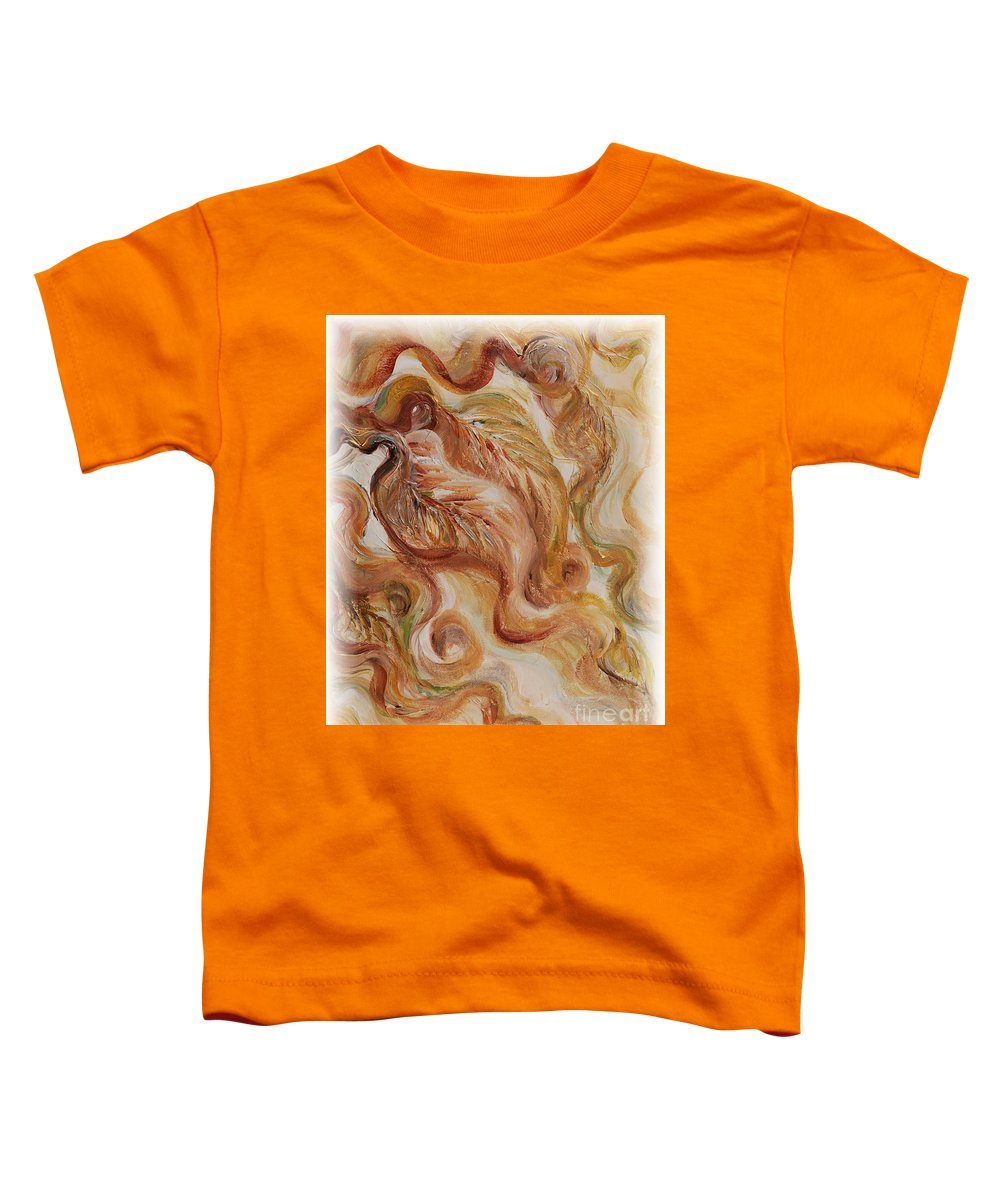 Leaves Toddler T-Shirt featuring the painting Reflective Leaves by Nadine Rippelmeyer