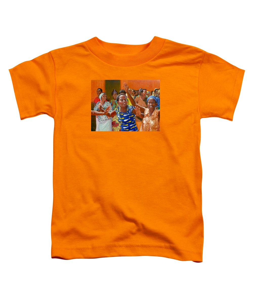 Realism Toddler T-Shirt featuring the painting Rejoice by Donelli DiMaria