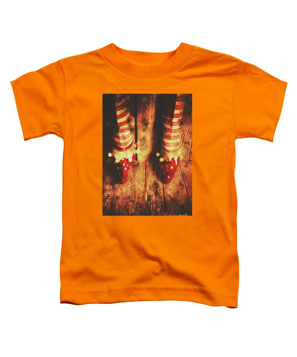 Elf Toddler T-Shirt featuring the photograph Retro Elf Toes by Jorgo Photography - Wall Art Gallery