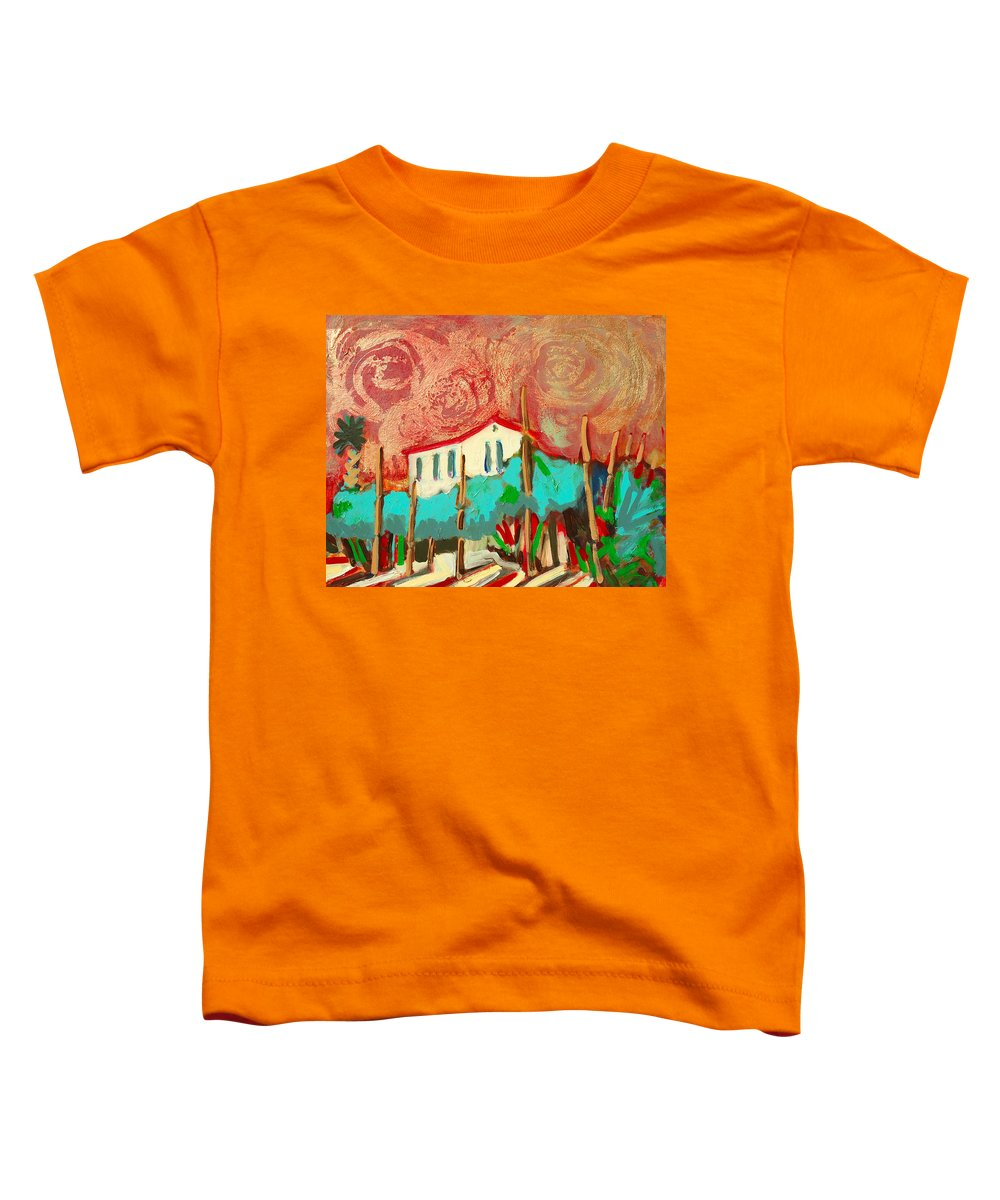 Tuscany Toddler T-Shirt featuring the painting Ricordare by Kurt Hausmann