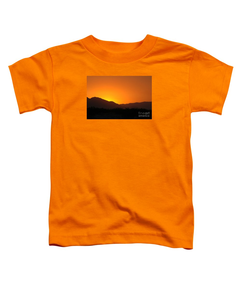Sunset Toddler T-Shirt featuring the photograph San Jacinto Dusk Near Palm Springs by Michael Ziegler