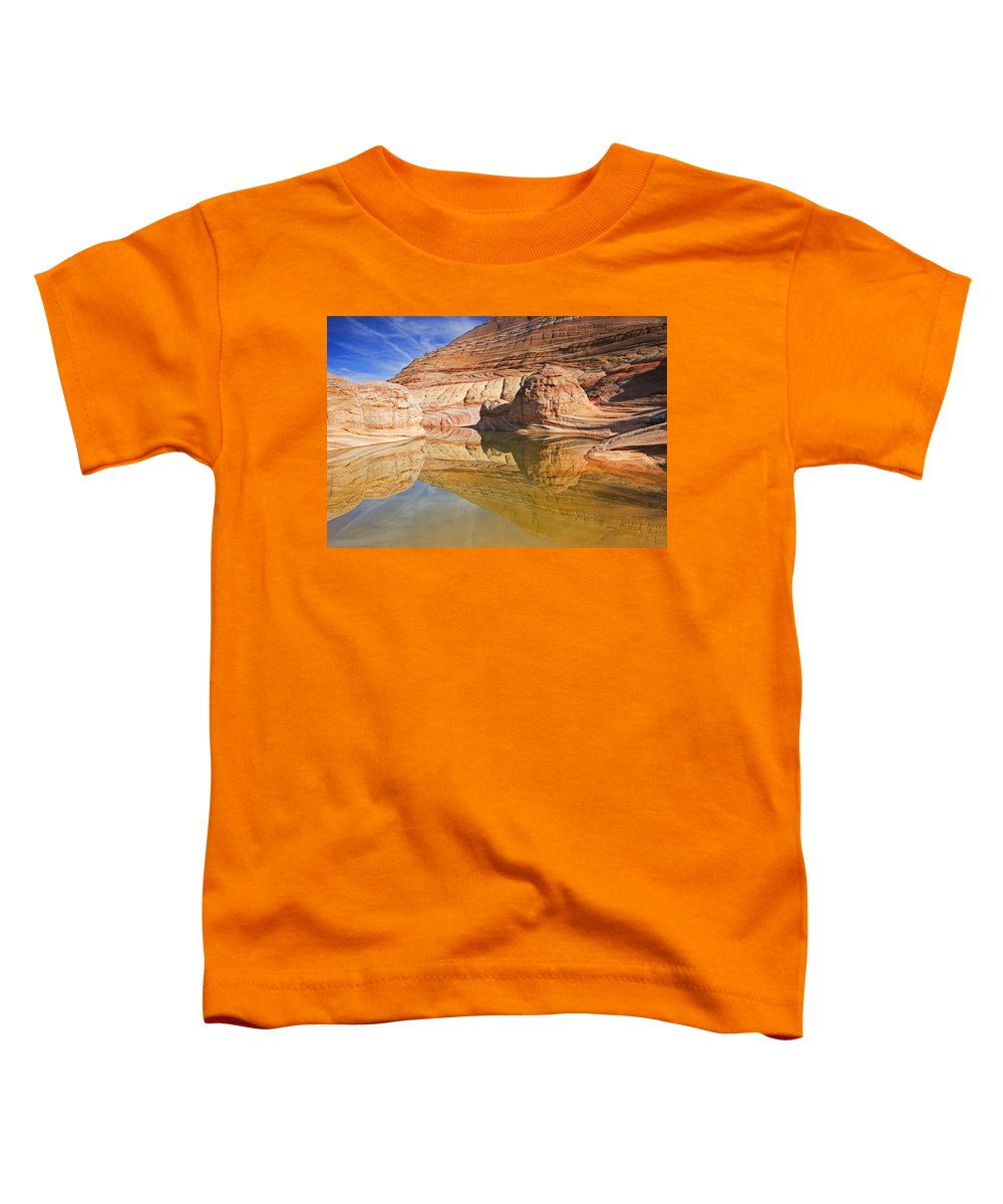 Pool Toddler T-Shirt featuring the photograph Sandstone Illusions by Mike Dawson