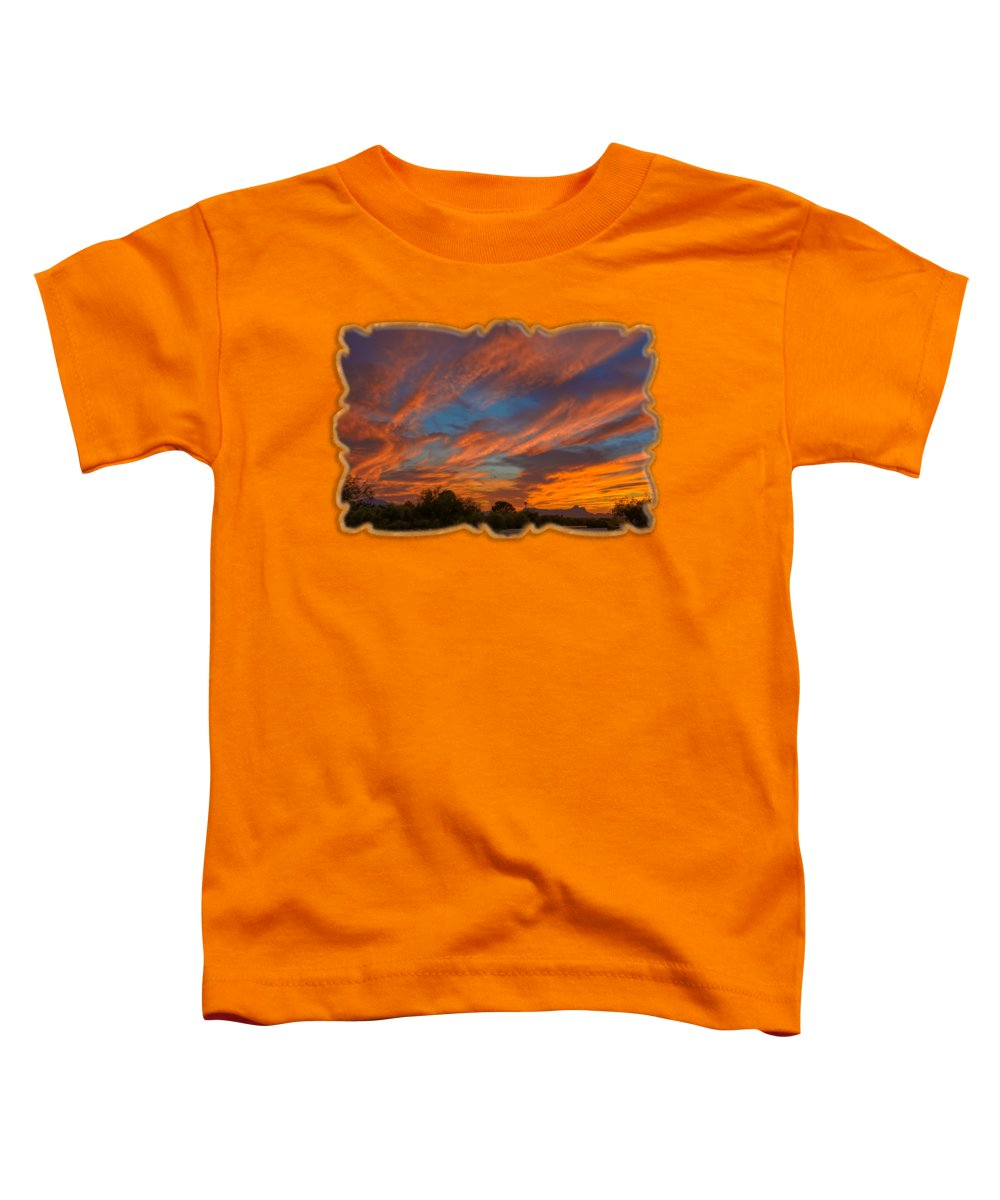 Arizona Toddler T-Shirt featuring the photograph Sombrero Sunset H26 by Mark Myhaver